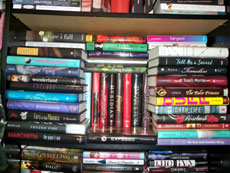 Your overstuffed book shelf