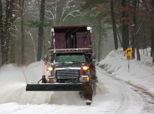 Snowy Road Plow... just add cheese.