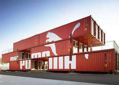 Puma Athletic Store in Boston - Made from Shipping Containers