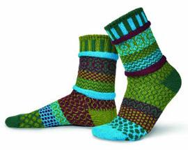 Fabric-Scrap Socks
